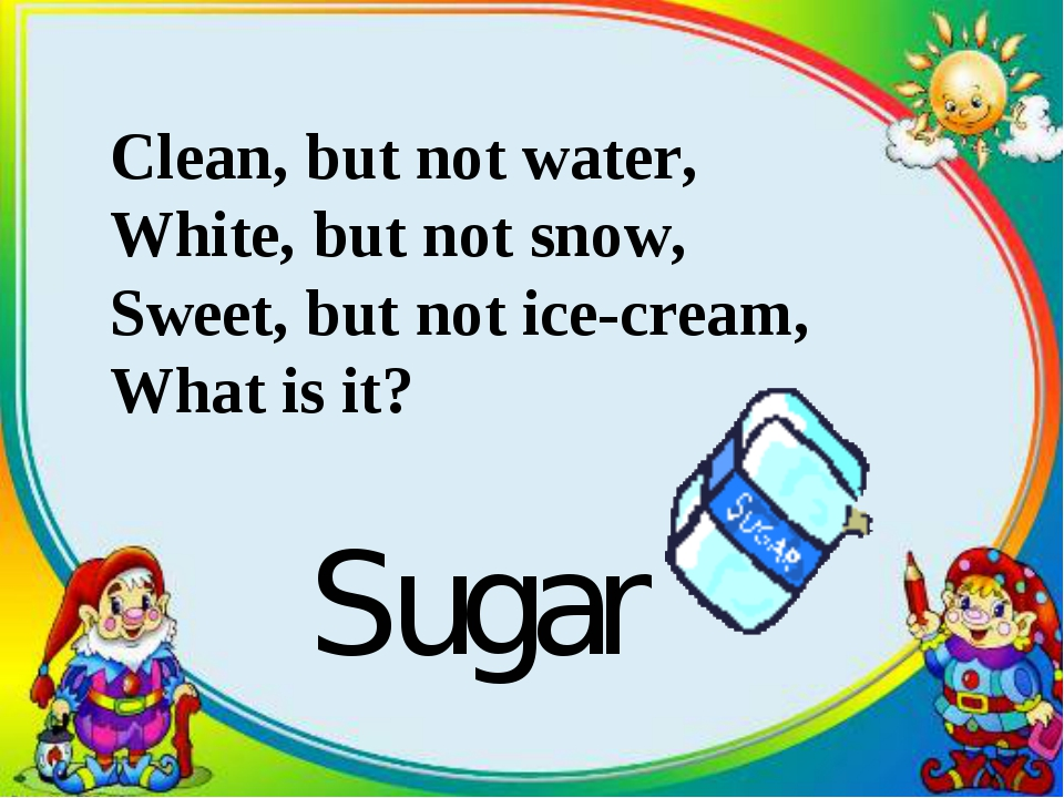 Clean, but not water, White, but not snow, Sweet, but not ice-cream, What is...