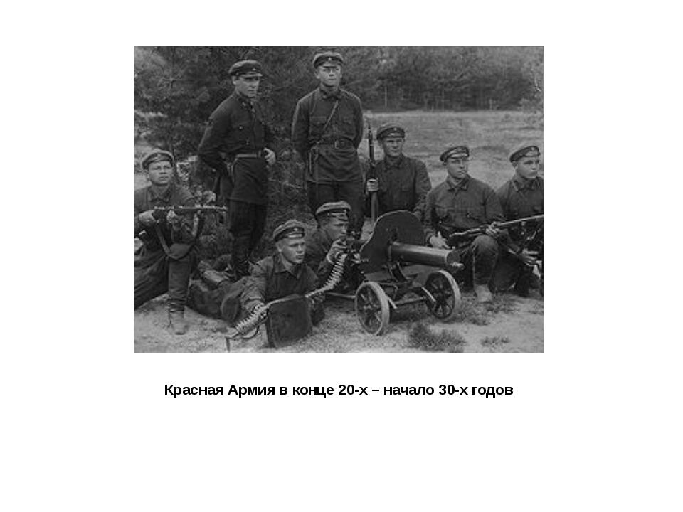Красная Армия в конце 20-х – начало 30-х годов