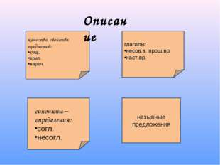 глаголы: несов.в. прош.вр. наст.вр. назывные предложения качества, свойства п