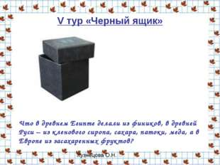 V тур «Черный ящик» Что в древнем Египте делали из фиников, в древней Руси –