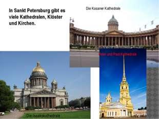 Die Isaakskathedrale In Sankt Petersburg gibt es viele Kathedralen, Klöster