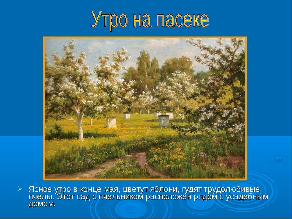 Ясное утро в конце мая, цветут яблони, гудят трудолюбивые пчелы. Этот сад с п...