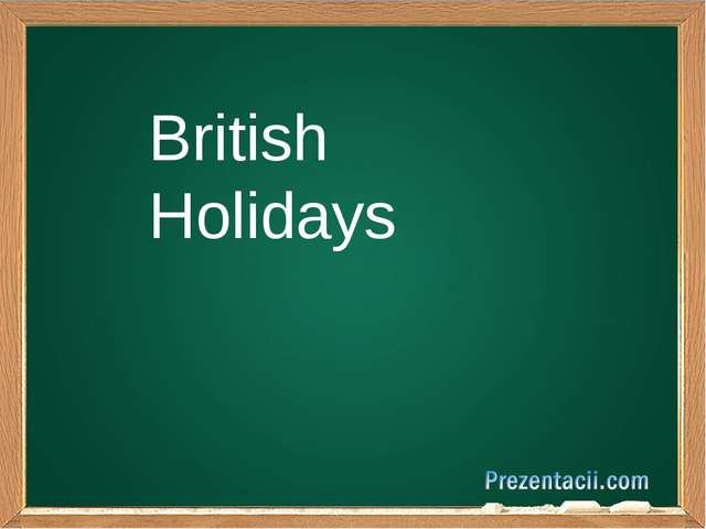 British Holidays