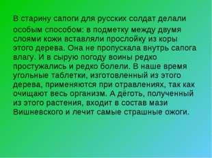 В старину сапоги для русских солдат делали особым способом: в подметку между