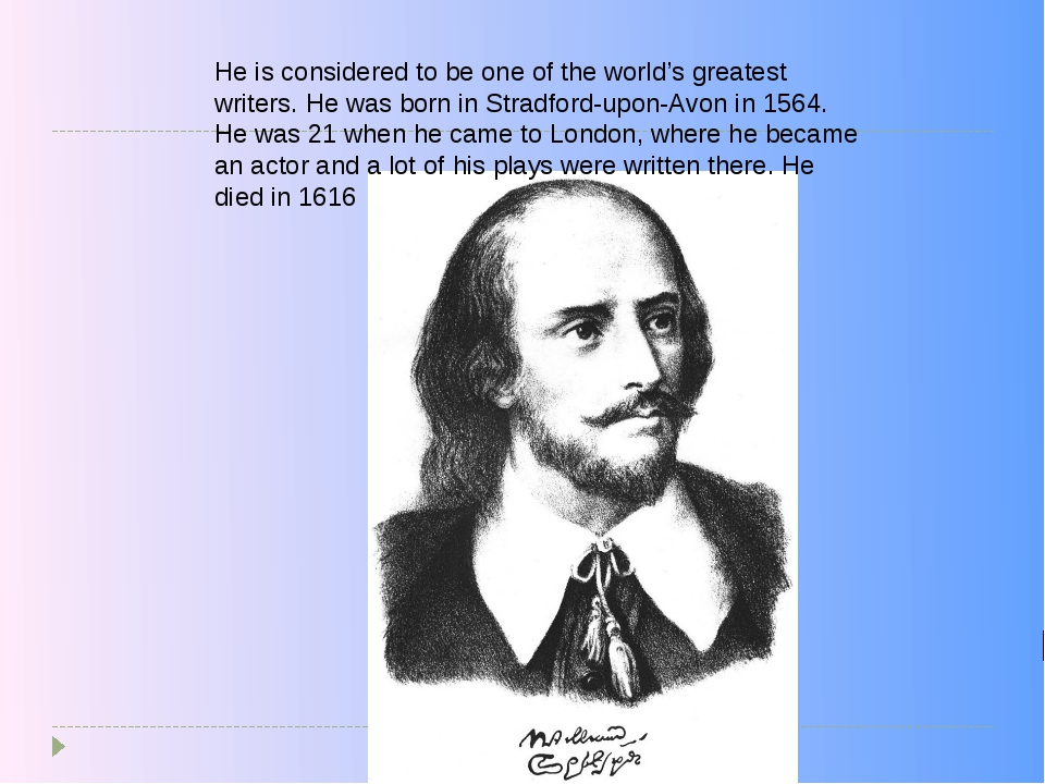 He is considered to be one of the world's greatest writers. He was born in St...