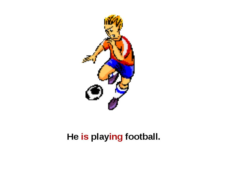 He is playing football.