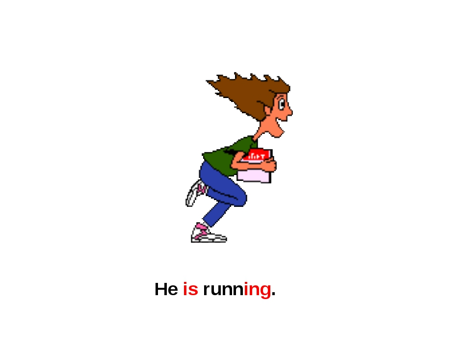 He is running.
