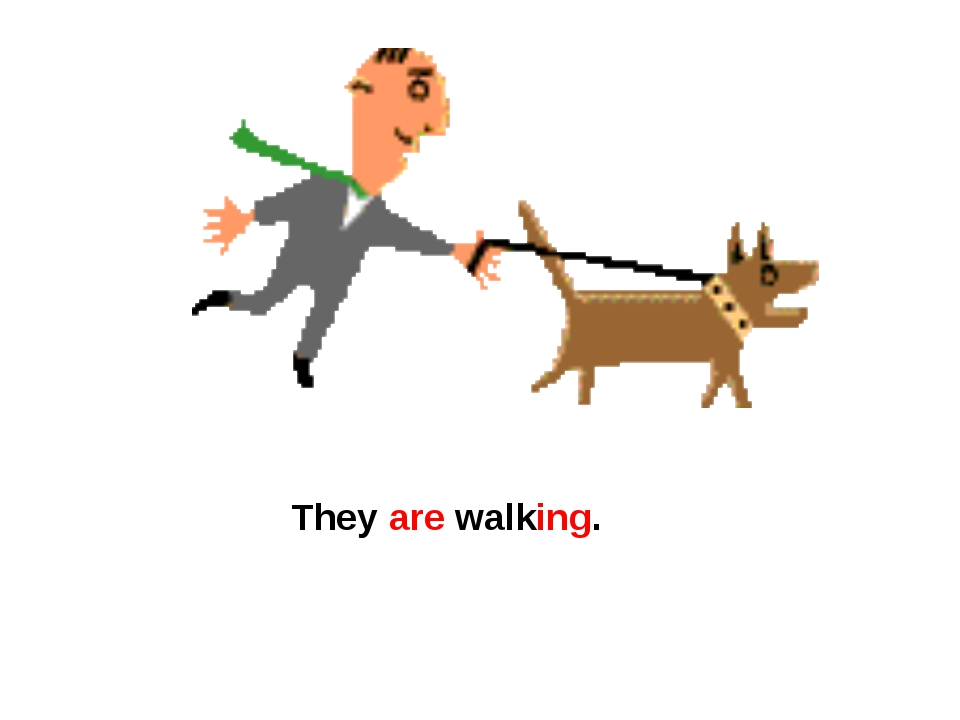 They are walking.