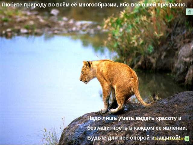 Любите природу во всём её многообразии, ибо всё в ней прекрасно.. Надо лишь у...