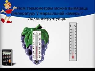 Якім тэрмометрам можна вымяраць тэмпературу ў маразільнай камеры? Адказ абгр