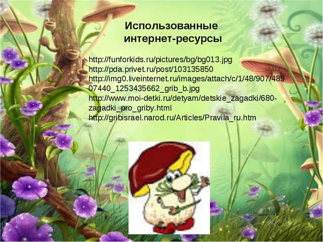 Использованные интернет-ресурсы http://funforkids.ru/pictures/bg/bg013.jpg ht...