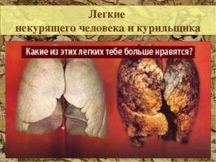 Легкие некурящего человека и курильщика