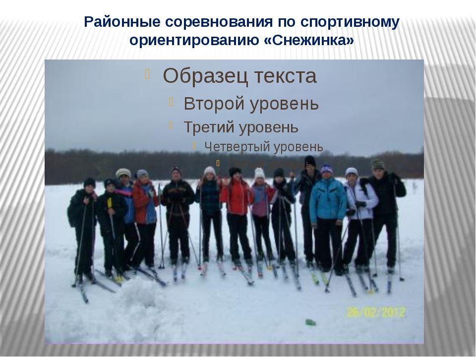 Районные соревнования по спортивному ориентированию «Снежинка»