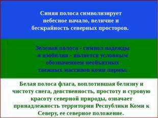Катеренчук Т. Б. Синяя полоса символизирует небесное начало, величие и бескра