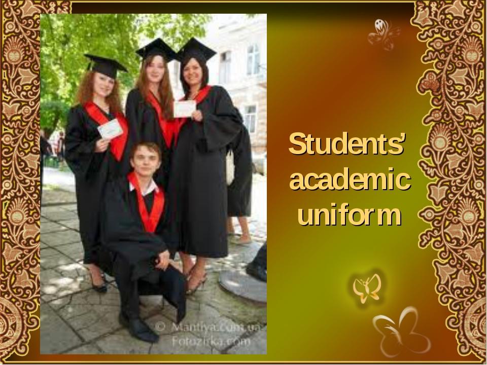 Students' academic uniform
