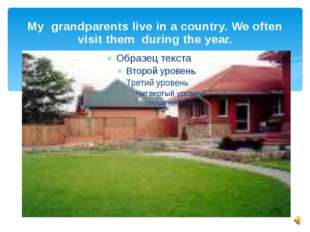 My grandparents live in a country. We often visit them during the year.