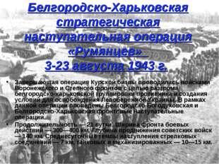 Белгородско-Харьковская стратегическая наступательная операция «Румянцев» 3-