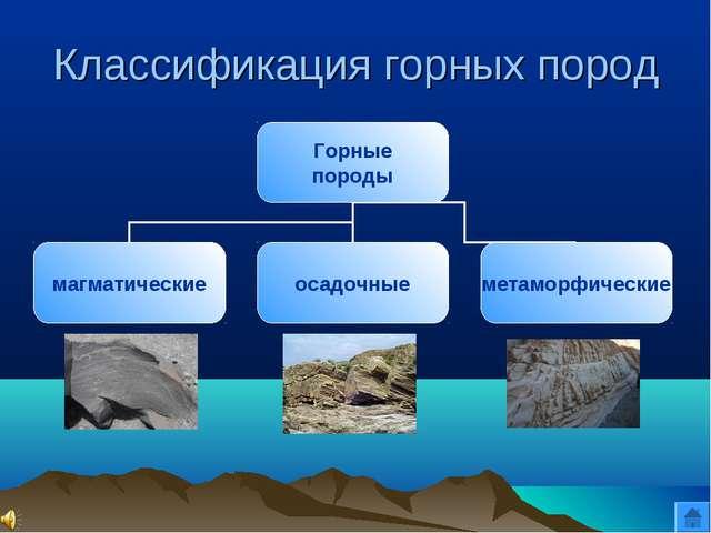 Классификация горных пород