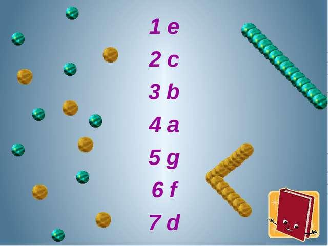 1 e 2 c 3 b 4 a 5 g 6 f 7 d
