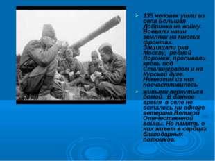 135 человек ушли из села Большая Добринка на войну. Воевали наши земляки на м