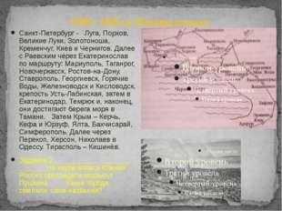 1820 – 1826 г.г. Южная ссылка Санкт-Петербург - Луга, Порхов, Великие Луки, З