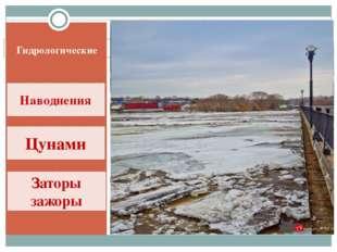 Гидрологические Наводнения Цунами Заторы зажоры