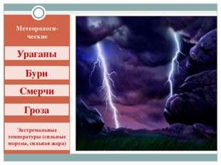 Метеорологи-ческие Ураганы Бури Смерчи Гроза Экстремальные температуры (сильн