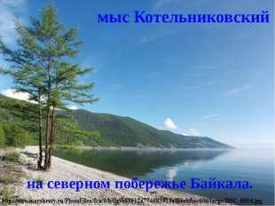 мыс Котельниковский  на северном побережье Байкала.