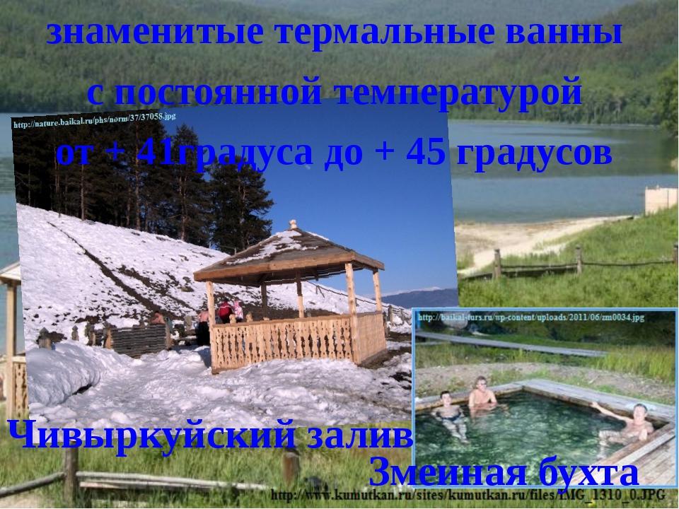 знаменитые термальные ванны с постоянной температурой от + 41градуса до + 45...