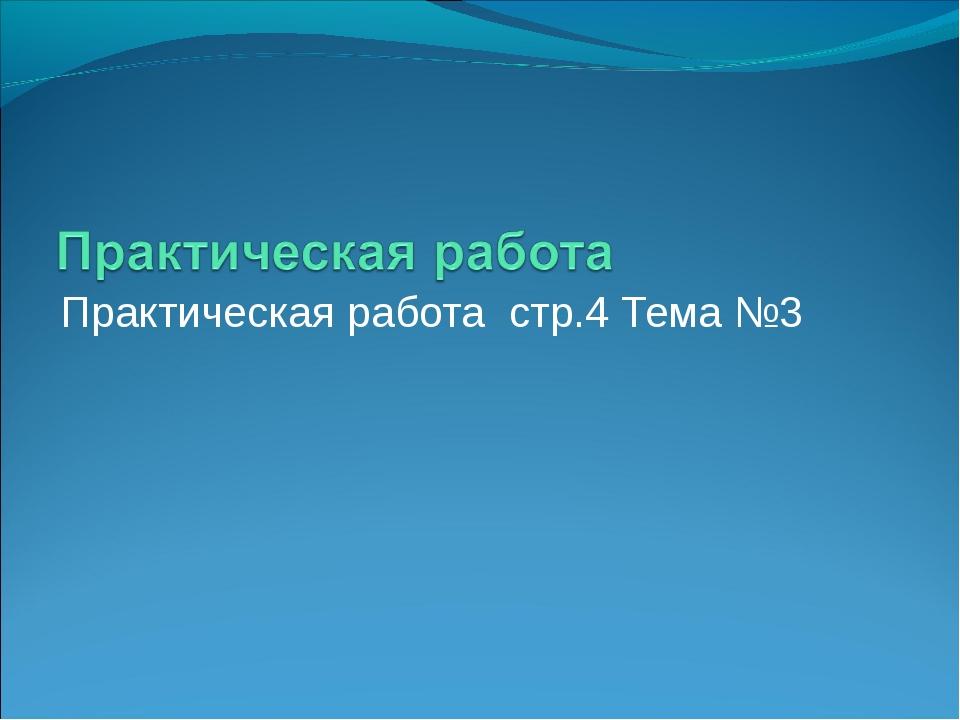 Практическая работа стр.4 Тема №3