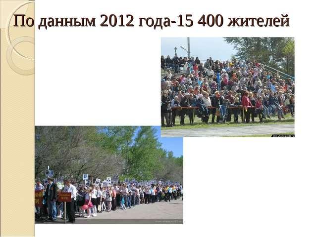 По данным 2012 года-15 400 жителей