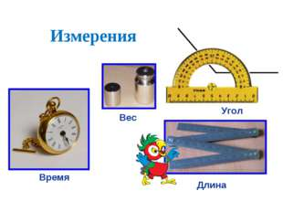 Измерения Время Длина Угол Вес