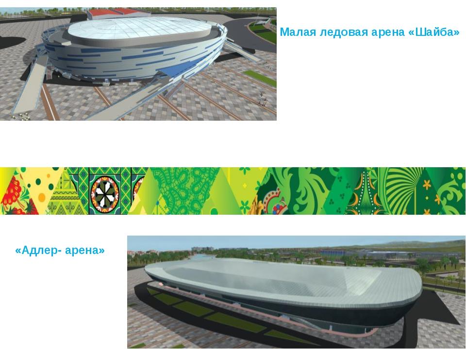 Малая ледовая арена «Шайба» «Адлер- арена»