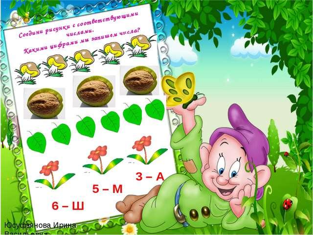 Юсуфзянова Ирина Васильевна Соедини рисунки с соответствующими числами. Каким...