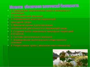 1. Гражданское экологическое право и механизм его реализации. 2. Экономически