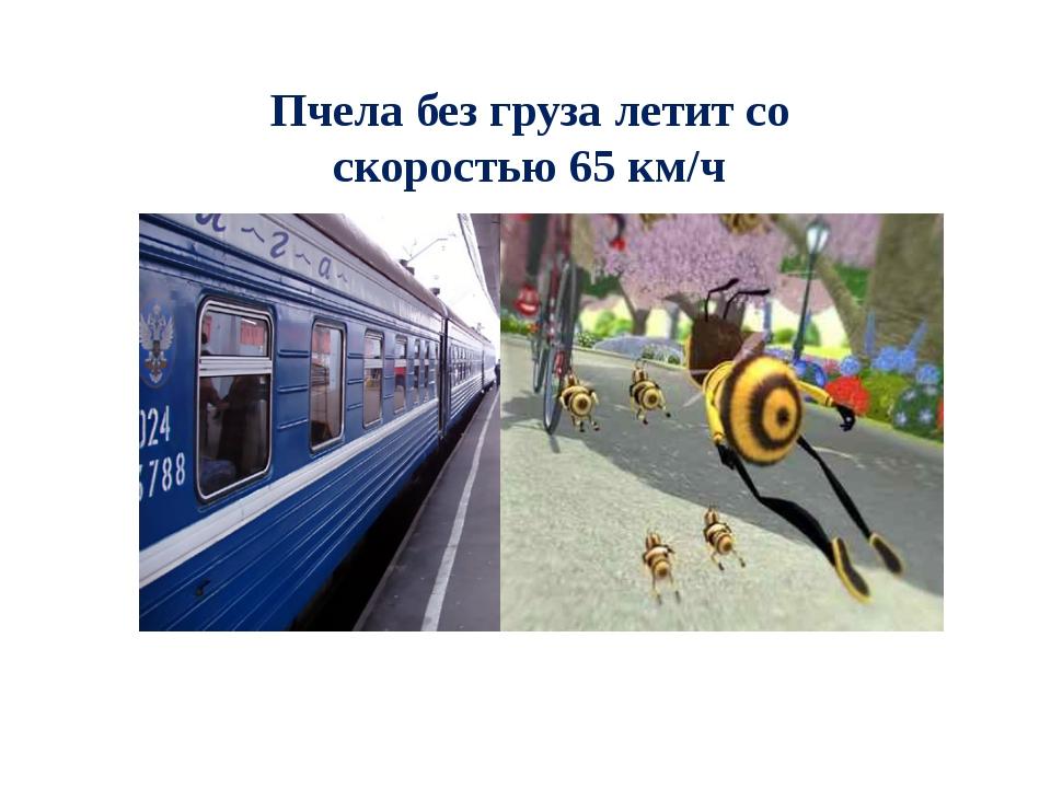 Пчела без груза летит со скоростью 65 км/ч