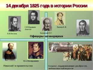 14 декабря 1825 года в истории России М.А.Милорадович Офицеры-заговорщики Сол