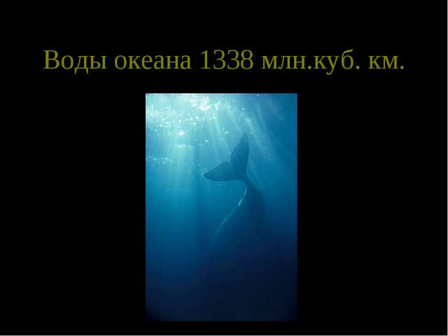 Воды океана 1338 млн.куб. км.