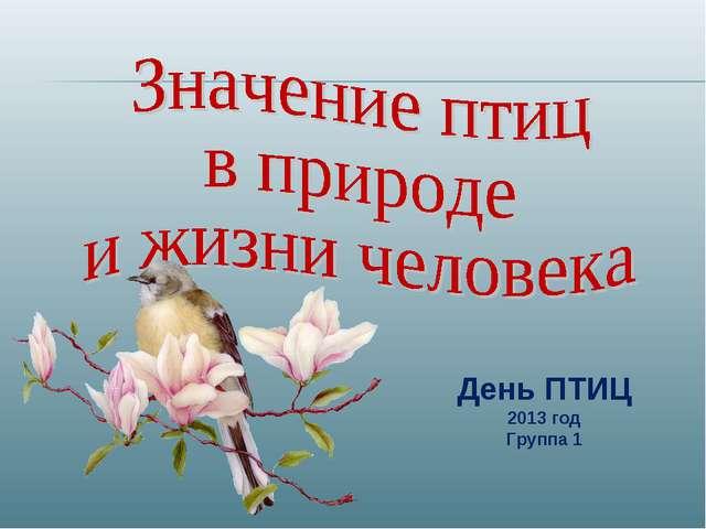 День ПТИЦ 2013 год Группа 1