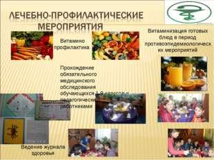 Витамино профилактика Витаминизация готовых блюд в период противоэпидемиологи