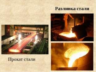 Разливка стали Прокат стали