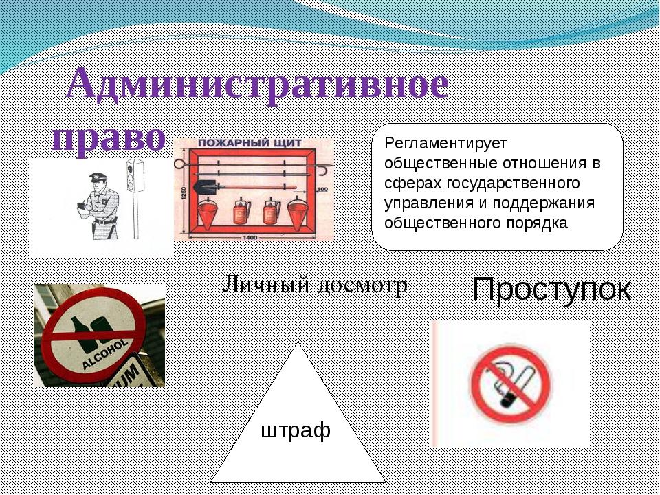 Административное право Регламентирует общественные отношения в сферах государ...