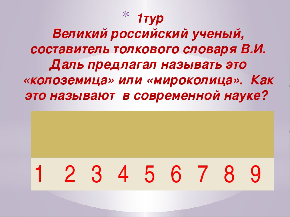 1тур Великий российский ученый, составитель толкового словаря В.И. Даль пред...