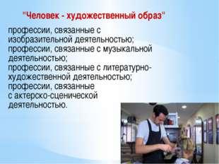 """""""Человек - художественный образ"""" профессии, связанные с изобразительной деят"""