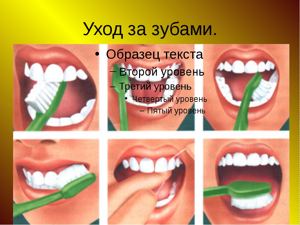 Уход за зубами.