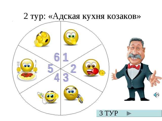 2 тур: «Адская кухня козаков» 3 ТУР