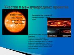 Участие в международных проектах Изучение Солнца, космической плазмы и солнеч