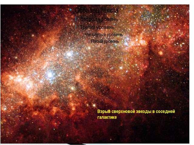 Взрыв сверхновой звезды в соседней галактике