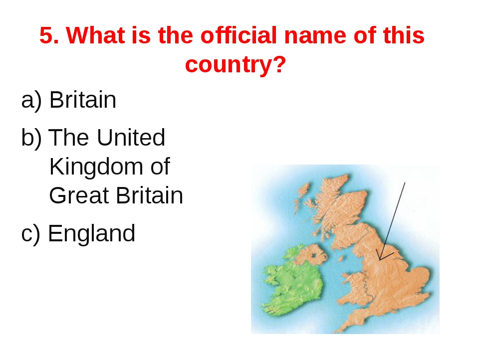 6.What is the national flag of the UK? 1 2 3 4 5 6