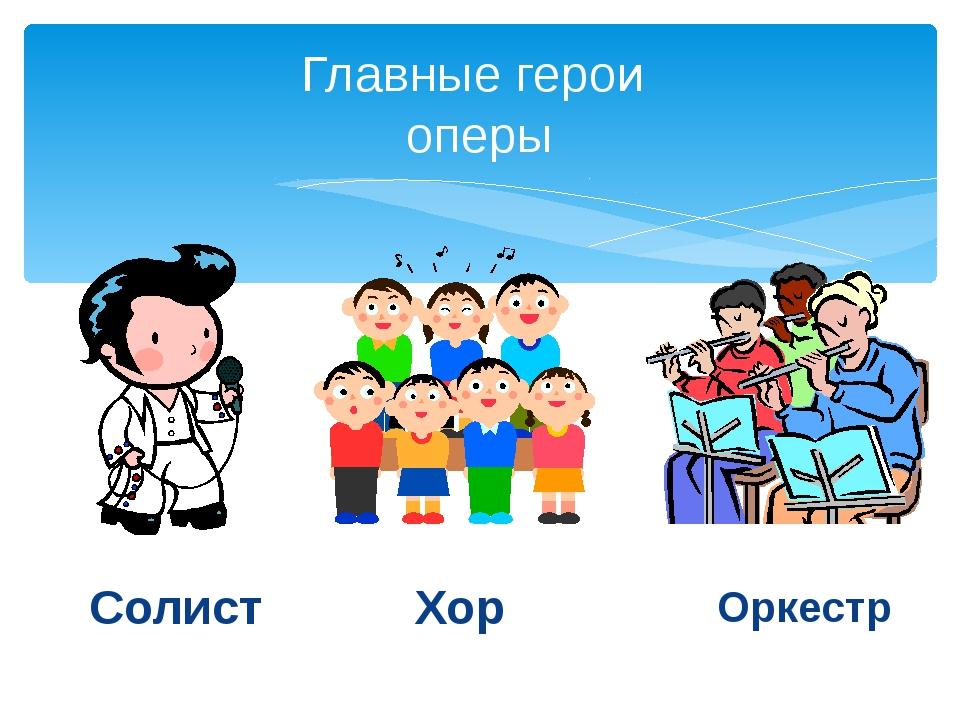 Главные герои оперы Солист Хор Оркестр